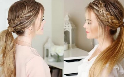 Braided-Ponytail-Hairstyles-for-Medium-hair-Ponytail-With-Braids-Hair-Tutorial-Compilation-2018