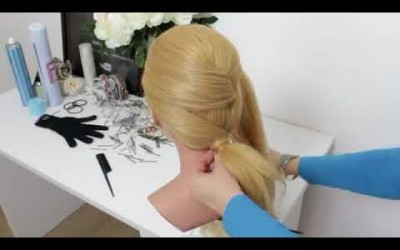 Hairstyle-Trends-2018.-Twisted-Low-Ponytail-Tutorial-For-Long-Hair.-1