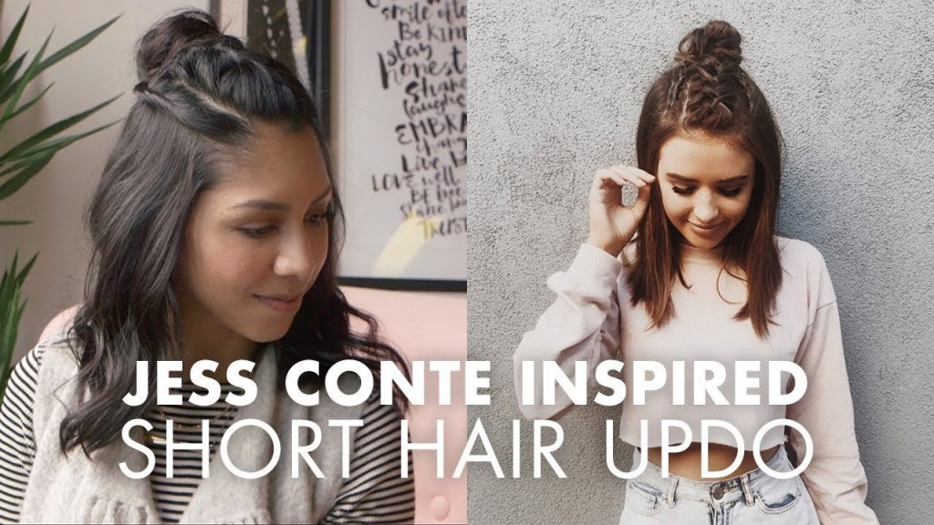 Half Updo For Short Hair Jess Conte Inspired Hairstyles