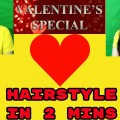 How-to-do-hairstyle-for-longshort-hair-in-hindiValentines-Day-special-hairstyle-tutorial