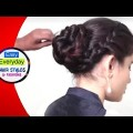 Indian-Bun-Hairstyles-for-weddings-parties.-Hairstyle-Tutorial-videos-BESTSELECTION-2018