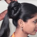 Quick-and-Beautiful-ponytail-hairstyles-1min-Ponytail-Hairstyle-DIY-Everyday-Hairstyle