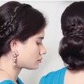 Simple-Braid-Bun-hairstyle-for-long-hair-Quick-Easy-Hairstyle-compilation-2018