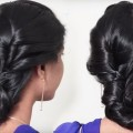 Simple-Loose-Bun-Hairstyle-for-long-hair-Easy-Hairstyles-for-ladies-Hairstyle-tutorial-videos