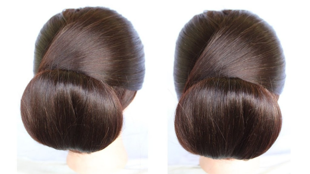 How To Make Low Chignon Hair Bun Hairstyles Juda How To Make A Bun
