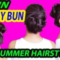 1-Min-Messy-Bun-for-long-hair-Everyday-easy-hairstyles-for-collegework-shikhascorner