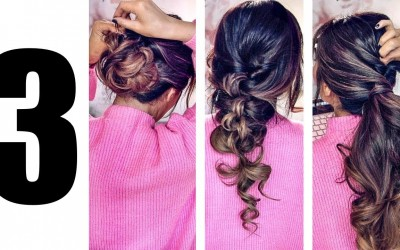 2018LAZY-GIRLS-ELEGANT-HAIRSTYLES-EASY-PUFF-EVERYDAY-UPDOS-for-Medium-Long-Hair