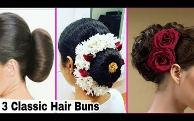 3-Simple-Hair-Buns-Hair-style-for-short-long-medium-hair-Hairstyles-at-Home-Ishita-Chanda