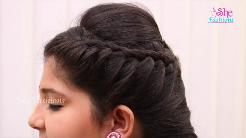 Best Half Bun With Puff Indian Party Hairstyles Youtube