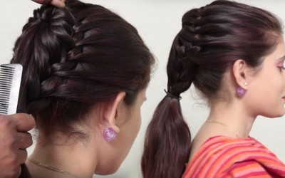 Cute-Hairstyle-For-Long-Hair-Simple-Hairstyle-For-Girl-For-Everyday-Simple-Ponytail-hairstyle