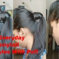 EASY-Everyday-High-Ponytail-Hairstyles-With-Puff-for-School-College-Work-Summer-Hairstyles