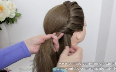 Easy-Elegant-Bun-Hairstyle-For-Long-Hair-Tutorial.-Bridal-Updo