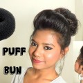 Front-Poof-and-Donut-Bun-Hair-Tutorial-Medium-Long-Hairstyles-Quick-Easy-Hairstyle