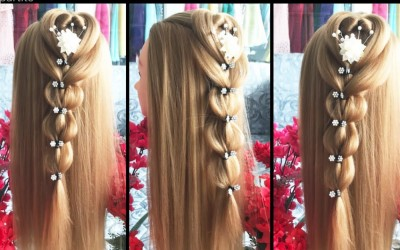 Heart-hairstyles-tutorial-easy-hair-compilation-for-long-hair-in-2018