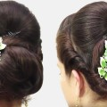 How-to-do-Bridal-Bun-Hair-style-for-long-hair-2018-Simple-Hair-style-Tutorial-2018