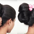 How-to-do-Bridal-Bun-Hairstyle-for-long-hair-Easy-Updo-Hairstyle-for-Ladies-2018