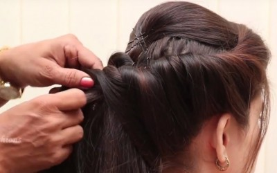 How-to-make-Unique-Bun-Hairstyle-for-long-hair-Simple-Hairstyle-Video-Tutorial-2018-Hair-styles