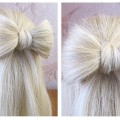 How-to-make-hair-bow-Quick-and-easy-hairstyle-tutorial-for-long-and-medium-hair
