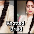 Knotted-BraidEasy-Indian-wedding-guest-Hairstyle-Party-hairstyle-for-medium-long-hair