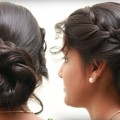 Messy-BUN-Hairstyle-With-in-2-Minutes-Simple-Hairstyle-Tutorials-2018-Bun-Braid-Hairstyle-1