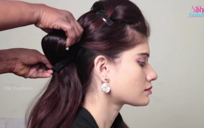 Quick-Easy-Treditional-Hairstyle-for-Long-Hair-How-to-do-Easy-Hairstyle-For-Ugadhi-Festival
