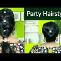 Simple-Party-Hairstyles-Tutorial-Party-Bun-Hairstyles-for-Long-Hair-Ponytail-Hairstyles