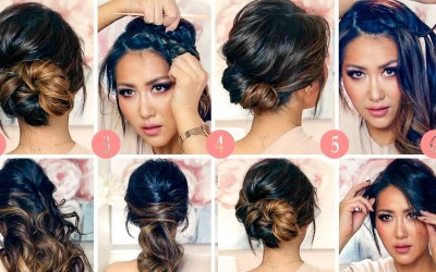 TOP-6-RUNNING-LATE-ELEGANT-HAIRSTYLES-for-WORK-2018-EASY-UPDOS-for-Medium-Long-Hair