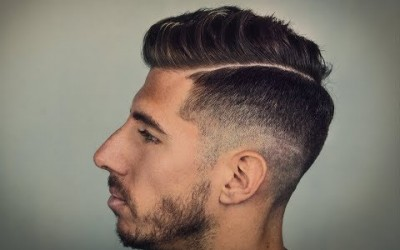 Wavy-Pompadour-with-Line-Up-and-Fade-Mens-Hair-inspiration-2018-Hairstyle-For-Men