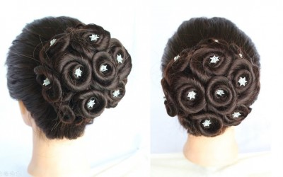 juda-hairstyle-for-wedding-How-to-Do-a-Perfect-Bridal-Bun-step-by-step-hairstyle-for-party