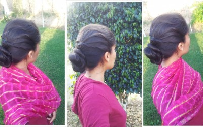 simple-and-easy-Indian-Juda-Updo-Hairstyle-Tutorial-party-hairstyle-for-women