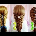 three-CUTE-HAIRSTYLES-TO-BE-READY-IN-ONE-MINUTE-Best-Hairstyles-for-Girls