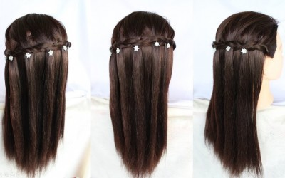 very-easy-way-to-make-a-waterfall-hairstyle-in-2-minute-short-hairstyles-hairstyle