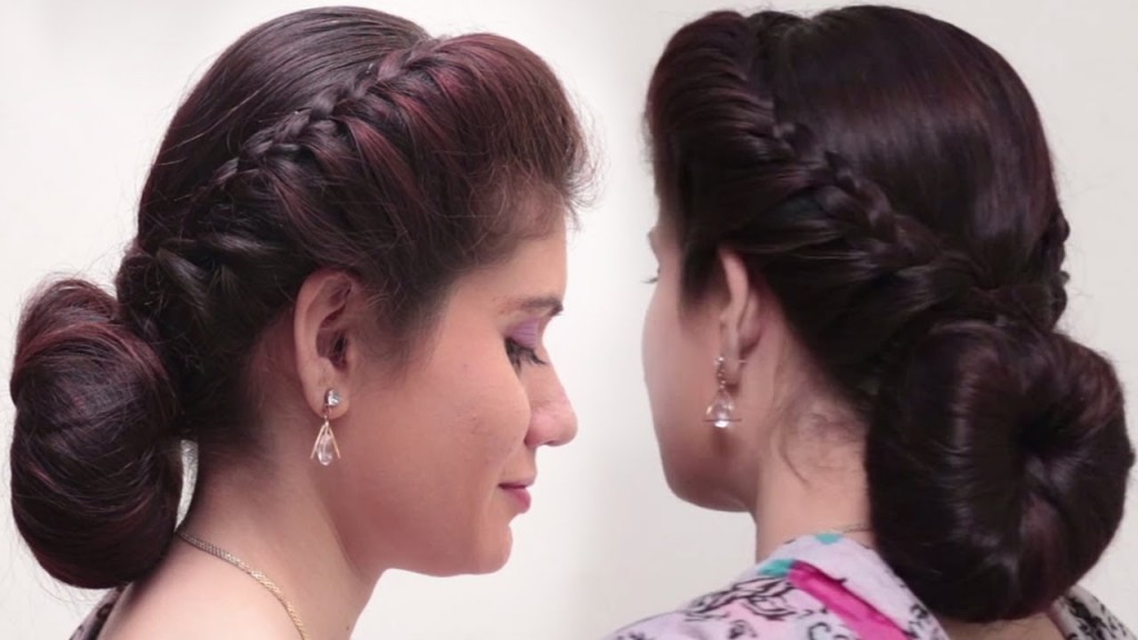 2 Quick Easy Bubble Bun Hairstyles For Saree Simple Bridal