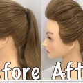 2-Ways-to-a-Ponytail-with-Puff-Easy-Hairstyles-Home-Town
