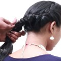 Back-Braid-Hairstyle-for-Short-Hair-Hairstyles-Tutorial-for-Beginners-Updo-simplehairstyles