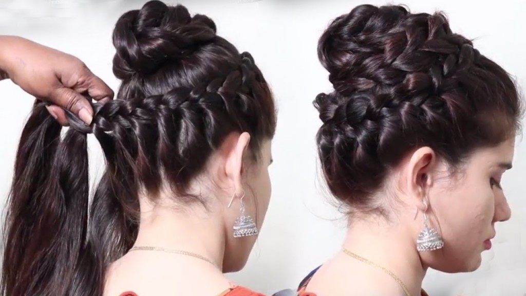 Easy Braided Bun Hairstyle For Partywedding Unique Hairstyles
