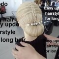 Easy-updo-hairstyle-for-long-hairchignon-hairstyle2018bun