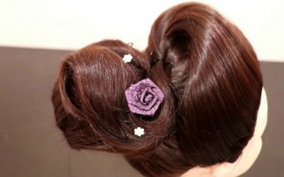 Indian-Bridal-Wedding-Curved-Waving-Bun-Wedding-Hairstyles-Black-Hairstyles-New-Hairstyle