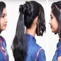 Simple-Ponytail-Hairstyle-for-Long-Length-Hair-Easy-Hairstyles-2018-Sumantv-Women