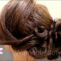 Wedding-Bridal-Curly-Bun-Hair-Style-Short-Hairstyles-Wedding-Hairstyles-Black-Hairstyles