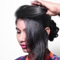 2-Simple-Hairstyle-Simple-Festival-Buns-for-mediumlong-hair-2018-Latest-Indian-Party-hairstyles.