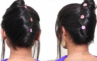 5-Different-hairstyles-for-short-hair-Beautiful-Hairstyle-for-wedding-party-Hairstyle-Tutorial