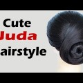 Easy-and-Cute-Juda-Hairstyle-Wedding-Hairstyles-Black-Hair-style-Short-Hairstyles