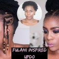 Fulani-Inspired-Bun-Updo-Braids-Beads-Hairstyle-on-Short-4C-Hair-Miriam-Maulana-Hair-Blogger