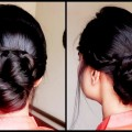 Quick-Braided-Bun-with-FRENCH-LACE-BRAIDindian-wedding-guest-hairstyles-for-medium-to-long-hair