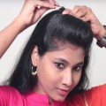 Simple-Front-Puff-Hairstyle-at-Last-Minute-Everyday-Hairstryles-Hairstyle-tutorials-2018