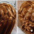 Triple-French-braid-double-waterfall-mini-bun-Hairstyle-For-ShortMediumLong-hairs-Hair-Tutorial