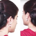 Wedding-Hairstyles-in-saree-Bubble-BUN-Hairstyle-for-Long-Hair-hair-style-girl-Hair-tutorial