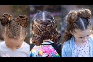 10-Cute-Little-Girl-Hairstyle-Tutorials-Lovely-Kids-Hairstyles-Compilation-2018