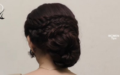 Beautiful-Layered-Knot-Hairstyle-For-Wedding-Functions-Easy-Hairstyles-Womens-Tips